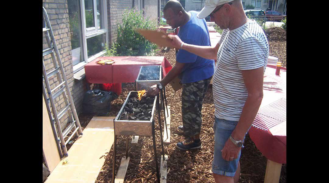 BBQ binnentuin Made in Moerwijk